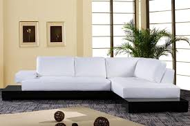 Top Grain Leather Sectional Sofas Top Grain White Leather Sectional Sofa S3net Sectional Sofas