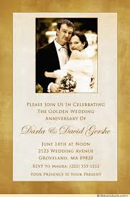 50th wedding invitations 50th wedding anniversary invitation golden photo event