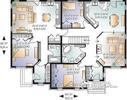 Multi Unit Floor Plans Multi Family Plan W3040 Detail From Drummondhouseplans Com
