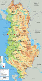 Italy Physical Map by Maps Of Albania Albania Detailed Map In English Tourist Map
