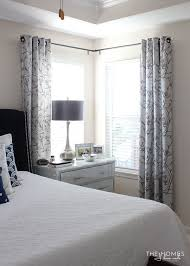 pics of bedrooms making the case for hanging curtains in your rental master bedroom