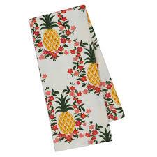 pineapple plumeria printed dishtowel dii design imports