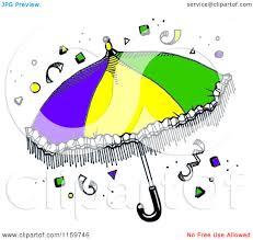 mardi gras umbrella clipart of a mardi gras umbrella with confetti royalty free