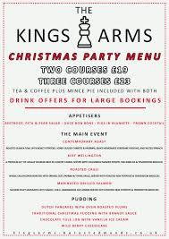 christmas menus the kings arms bury st edmunds
