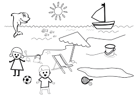 108 dessins de coloriage plage à imprimer