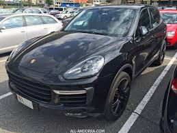 porsche black porsche cayenne turbo black color all andorra