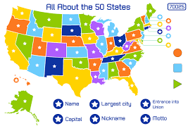 a usa map with states and capitals test your geography knowledge usa state capitals quiz lizard with