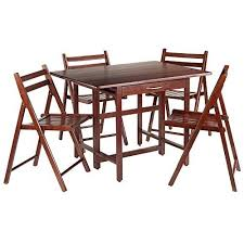 Drop Leaf Table With Chairs Winsome Wood Taylor 5 Pc Set Drop Leaf Table W 4 Folding Chairs