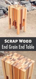 Diy End Grain End Table Scrap Wood End Grain End Table Scrap Woodworking And Woods