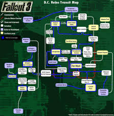 Washington Dc Map Pdf I Decided To Map The Underground System Of Downtown Dc Fallout 3