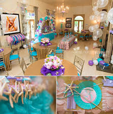 Party Decoration Ideas At Home by Top Little Mermaid Birthday Party Decoration Ideas Images Home