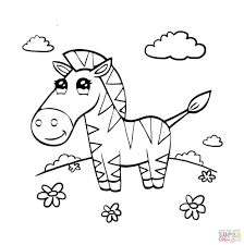 cute zebra coloring pictures nature grass white animal wildlife
