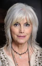 hairstyles with bangs for women over 50 trendy gray hair bangs