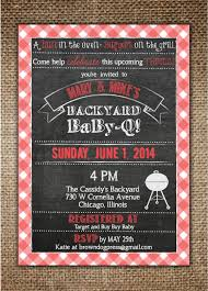 Backyard Grill Chicago Il by Baby Shower Invitation Baby Bbq Backyard Baby Q With Red