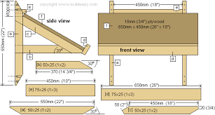 Drafting Table Dimensions Wall Desk Plans