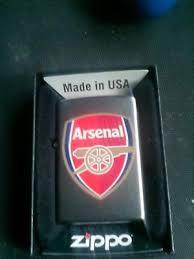 arsenal zippo lighter new zippo arsenal fc football petrol lighter in satin chrome gift