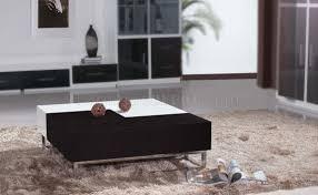 wenge u0026 high gloss white modern 2pc coffee table