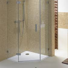 bathroom oak vanity cabinets with frameless shower door and