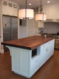 plywood raised door fashion grey kitchen island with butcher block