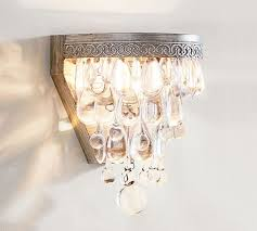 Chandelier Sconce Clarissa Drop Sconce Pottery Barn