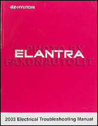 2003 hyundai elantra electrical troubleshooting manual original
