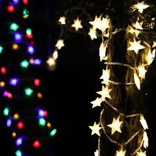 led christmas lighting star model 80leds 10 meters white colorful