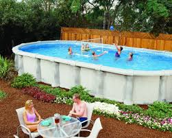 backyard above ground pools home outdoor decoration