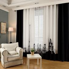 Insulated Curtains Black And White Color Block Patterned Insulated Curtains For Windows