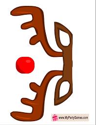 free printable reindeer activities free printable reindeer photo booth prop photo pinterest