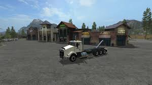 kenworth kenworth t800 hooklift v1 ls17 farming simulator 2017 fs ls mod
