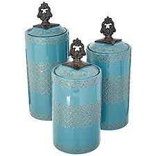 blue kitchen canisters blue kitchen canister sets of 3
