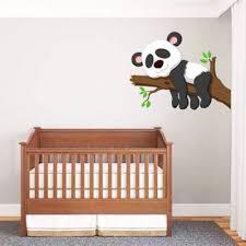 chambre bébé stickers sticker bébé panda un sticker pour décoration chambre bébé ou enfant