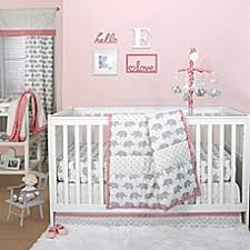 Crib Bedding Set With Bumper Furniture 9 Pcs Blush Pink Grey And White Shabby Chic Watercolor
