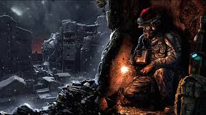 merry christmas l post christmas fantasy funny futuristic post apocalyptic ruins soldiers