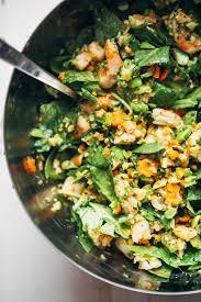 chopped thai shrimp salad with garlic lime dressing recipe pinch