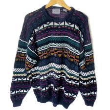 tribal sweater tribal aztec cotton blend oversized slouchy ski sweater the