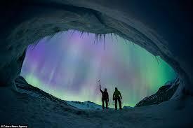 northern lights jasper national park northern lights illuminate the sky behind glacier climbers bossy gals
