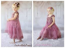 vintage pink lace girls dress ruffle dress flower dress