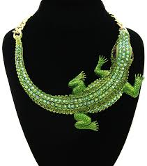chunky necklace charms images Crocodile pendants chunky statement necklace jpg