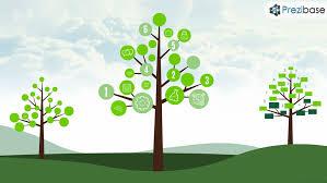 creative tree diagram chart graph leafs nature prezi presentation