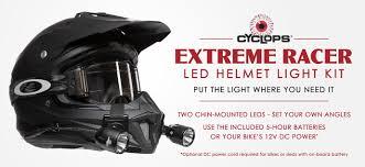 Motorcycle Helmet Lights Cyclops Adventure Sports Lighting Your Way