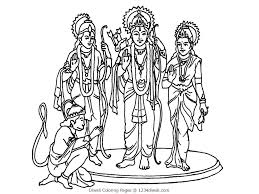 diwali coloring pages lord rama sita bebo pandco
