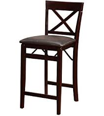 Counter Height Chairs With Back Amazon Com Linon Home Decor Keira Pad Back Folding Counter Stool