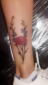 leg flower tattoos best 20 larkspur tattoo ideas on pinterest u2014no signup required