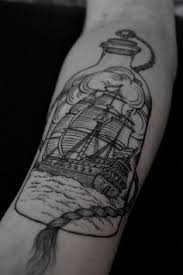 ship in bottle tattoo on forearm in 2017 real photo pictures