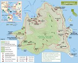 State Parks Usa Map by Angel Island State Park Map Belvedere Tiburon California U2022 Mappery