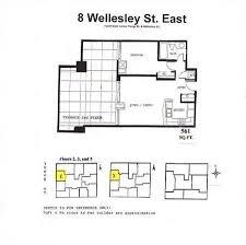 e floor plans floor plans for 8 wellesley st e 8 wellesley st e east of yonge