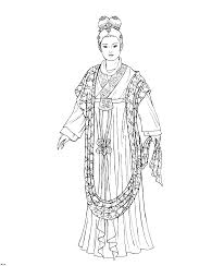 start coloring page of history coloring page of chinese clothing