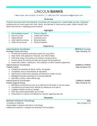 Training Coordinator Resume Cover Letter Administrative Coordinator Resume Sample Resume For Your Job