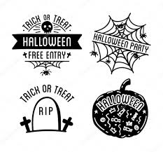 halloween black and white background halloween logos with curving pumpkins u2014 stock vector sonulkaster